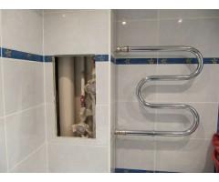 Короб в ванной для труб